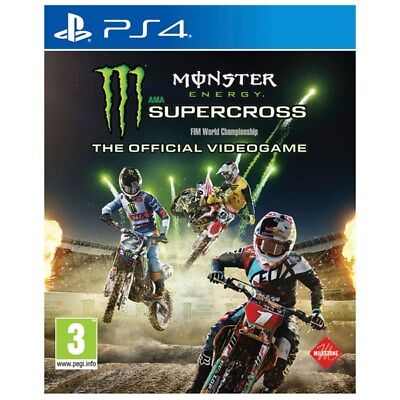 Monster Energy Supercross The Official Videogame (PS4) *New & Sealed*
