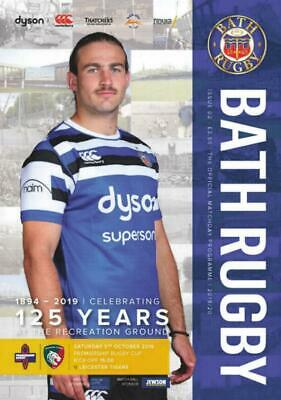 * 2019/20 - BATH RUGBY v LEICESTER TIGERS (PREMIER RUGBY CUP 5th October 2019) *