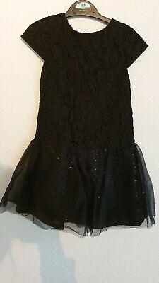 Girls Black Sparkly Party Dress Age 3-4 FEARNE COTTON MINI CLUB worn Once