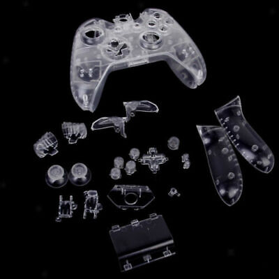 Clear Full Housing Shell Case Button Kit Replace for Xbox One Controller UK Sell
