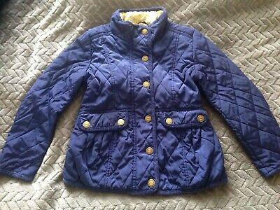 Girls Next Navy Quilted Jacket Coat 5-6 Years