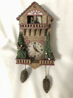 Cuckoo Wall Clock Resin WMG 04 Battery Unknown Working Condition Bears Eagle