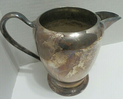 "Vintage F B Rogers Silver Co. 7.5"" Silverplate Pitcher Water Tea Coffee Decanter"