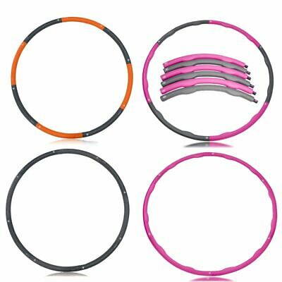 Weighted 1kg Padded Collapsible Hula Hoop Exercise Gym Core Workout Fitness 4U