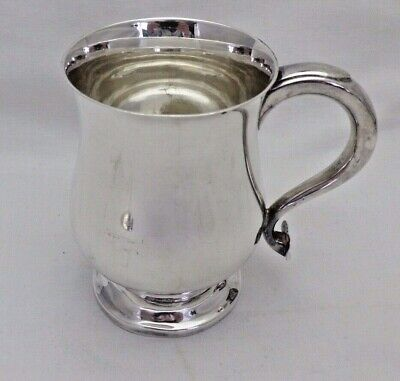 Antique Victorian Silver Plated Half Pint Baluster Tankard