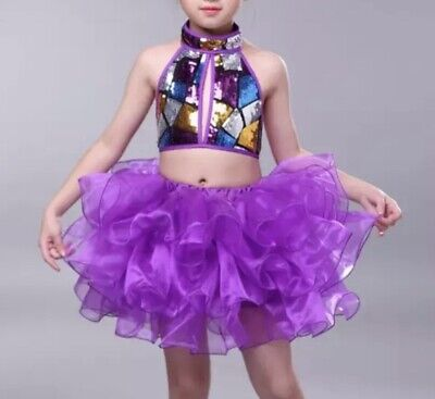 Dance Costume,Disco Freestyle Leotard.Competition,Festival.Stage Show Modern.UK