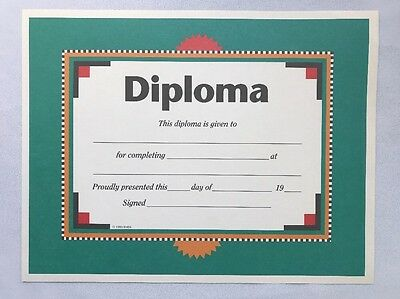 "BLANK Paper Diploma 8 1/2""-11"" Fill In Your Own Information - Ready to Frame"