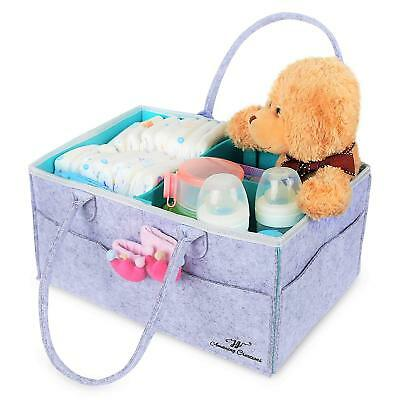 Baby Diaper Caddy Organizer Portable Large caddy, divider tote Car Travel Bag
