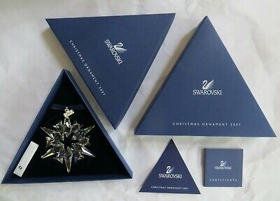 Swarovski Clear Crystal Christmas Snowflake Star 2007 Annual Ornament Coa 872200