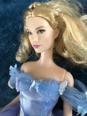Cinderella Royal Ball Barbie Doll Disney 2015 Live Action Movie Lily James Blue