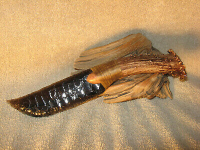 Lace Obsidian Skinning Knife Black Powder Flint Knapping COA Dragon Glass