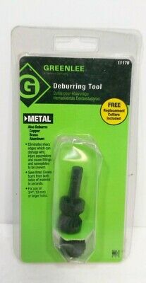 New Greenlee Metal Deburring Drill Cutter Tool Includes Extra Cutters #11170 USA
