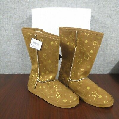 Airwalk EMMA Boots Girls boots Size 2 (Brown with gold stars) ~NEW~