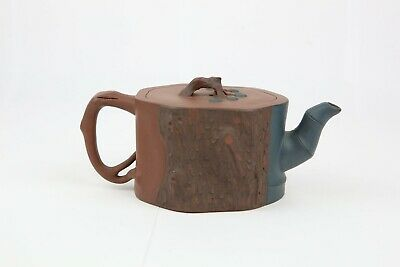 Antique Chinese Yixing Teapot Zisha Clay Signed in Base