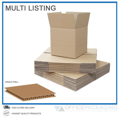 Single Wall Cardboard Boxes Moving Postal Small & Large High Quality