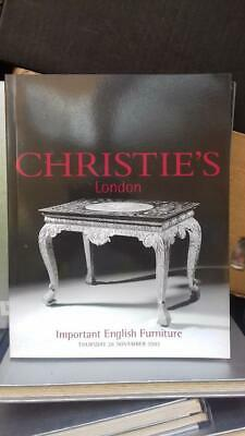 Important English Furniture,Thursday 28 November  2002 - Christies London