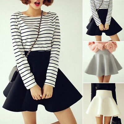 Women's Skirt Party Summer Swing Skirt Fashion Cocktail Stretch Evening Flared