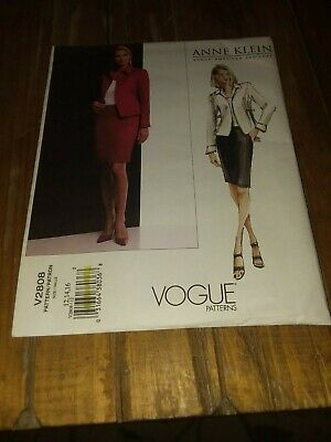 Vogue Misses'/Misses' Petite Jacket and Skirt Pattern sizes 12, 14, 16