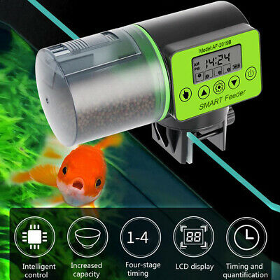AU!Automatic Fish Feeder Pond Koi Holiday Timer Digital Timer Auto Dispense Feed