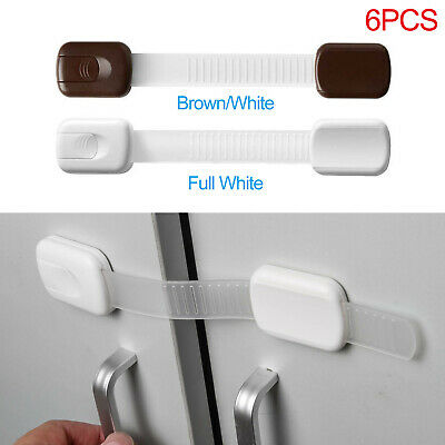 6 Pcs Child Infant Baby Kids Drawer Door Cabinet Cupboard Toddler Safety Locks