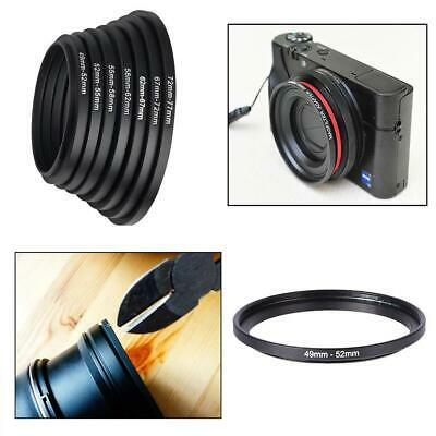 49-52 52-55 55-58 58-62 62-67 67-72 72-77Camera Lens Adapter Step Up Filte New
