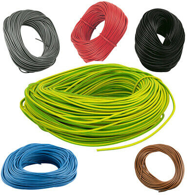 PVC Earth Sleeving - Green/Yellow Blue Brown Tubing Wire- 2mm  3mm  4mm  6mm 8mm