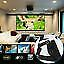 60-120 inch Portable Foldable Projector Screen 16:9 HD Home Room Outdoor Theater