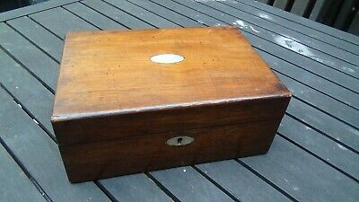 Antique Victorian Workbox Has Mop Inlays Lovely Colour