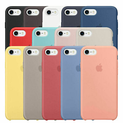 For APPLE Genuine SILICONE Case iPhone X XR XS MAX 8 7 Plus Liquid Rubber Cover