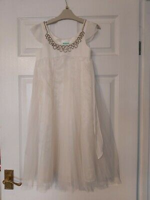 Gorgeous Girls Ivory Monsoon Party Dress 8-9 Years