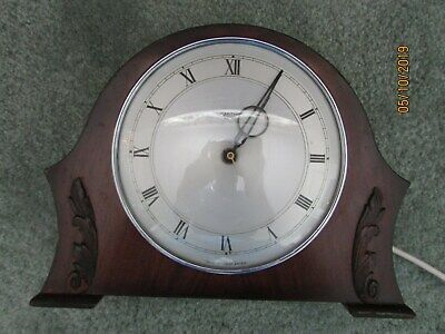 Smiths Electric Wooden Case Mantle Clock