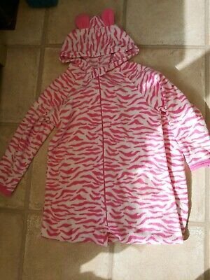 Primark Girls Pink Zebra Print All In One 7-8 Years