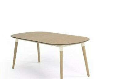 MADE.COM Edelweiss 6-8 Seat Oval Dining Table, Ash and White RRP £379