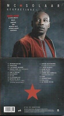 Cd Digipack 19 Titres Mc Solaar Geopoetique 2017 Neuf Scelle French Sticker