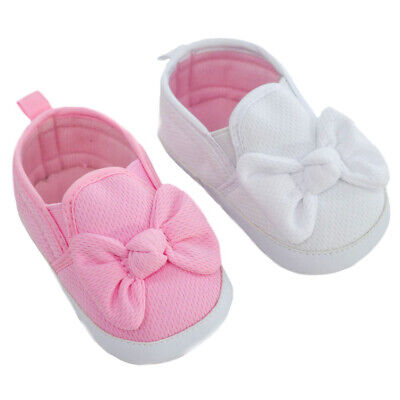 ☆ Baby Girls Gorgeous PInk /& White Waffle Bow Shoes  ☆