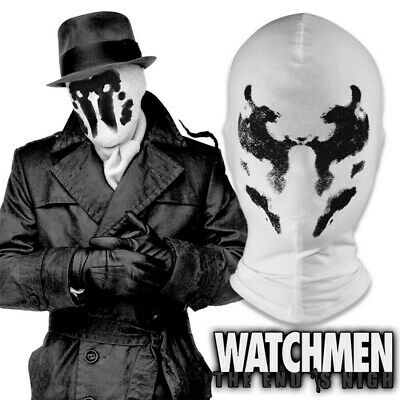 2019 Watchmen Rorschach Mask Hood New Cosplay Superhero Mask Balaclava Props New