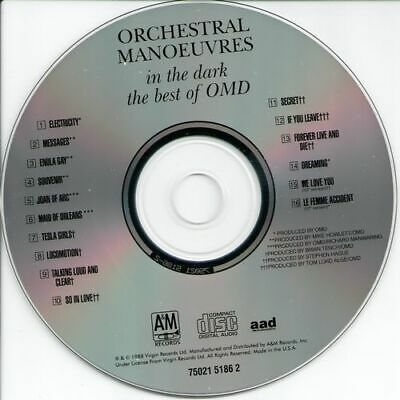 Orchestral Manoeuvres In The Dark - The Best Of OMD (1988,Import) VG/generic