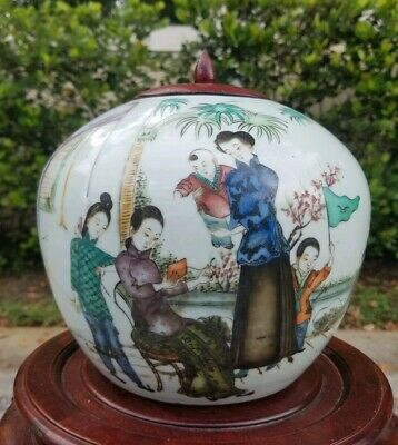 Antique 19th Century Chinese Porcelain Jar