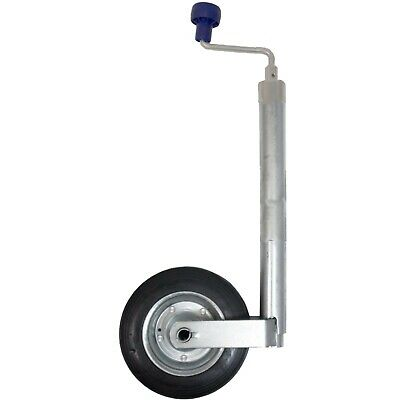 New 48mm Trailer or Caravan Medium duty jockey wheel with steel wheel 100KG
