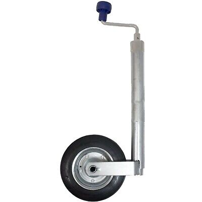New 42mm Trailer or Caravan Medium duty jockey wheel with steel wheel 100KG
