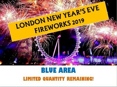X2 London New Year's Eve December 2019 Fireworks Display Tickets | Blue Area