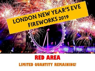 X2 London New Year's Eve December 2019 Fireworks Display Tickets | Red Area