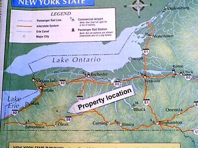 NY WATERFRONT Land Campsite #1 NO RESERVE ELECTRIC & WATER HOOKUPS Fish SWIM PA