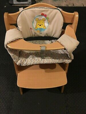Wooden High Chair Baby Feeding