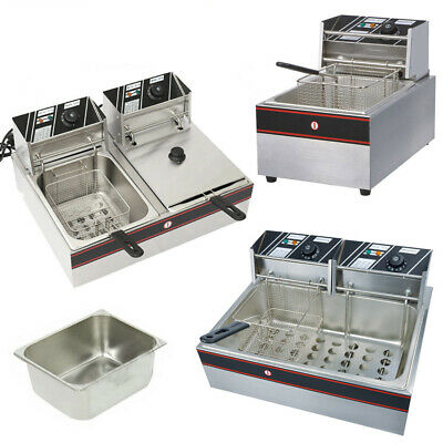 Commercial Electric TableTop Large Tank double Single Baskets Fat Deep Fryer CC