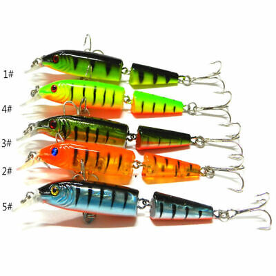 Tackle Fishing Lures Bait Durable Kit Hooks Floating Bass Multi-jointed