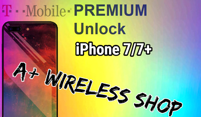T-Mobile USA -Unlock Service iPhone 7/7+ Clean / Financed & Inactive IMEI