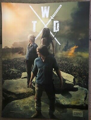 TWD The Walking Dead NYCC 2019 Limited Edition Poster - Darryl, Carol, Michonne