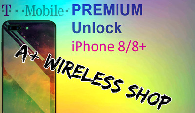 T-Mobile USA - Unlock Service iPhone 8/8+ Clean / Financed & Inactive IMEI