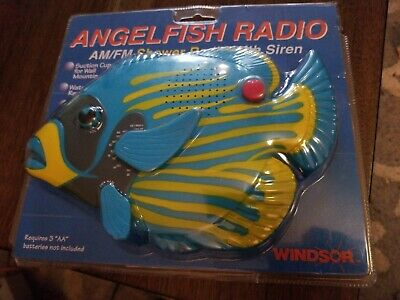 Am/Fm Shower fish Radio With Push-Button Emergency Alarm Water Resistant.Windsor